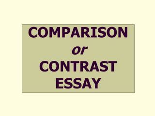 Some Great Topics for CompareContrast Essay