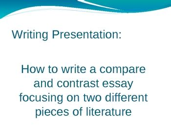 Thesis ideas compare contrast essay
